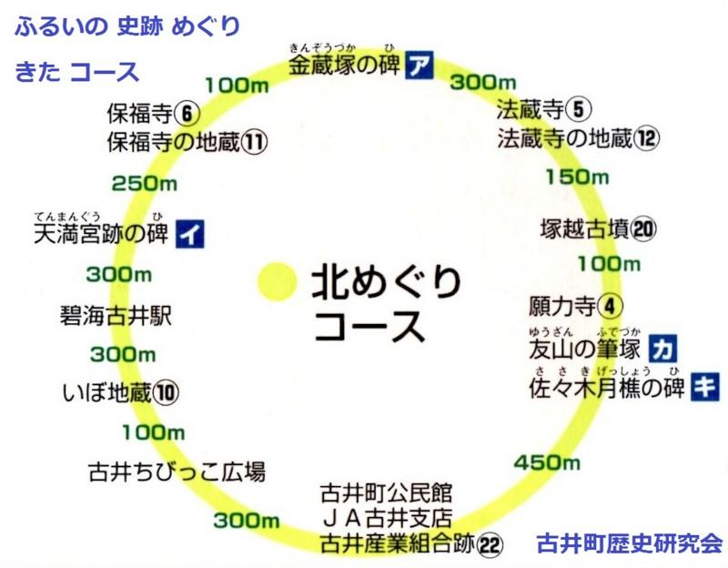 ふるい 史跡 めぐり きた コース 800-624