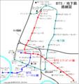 バンコク スカイ トレイン (BTS) 路線図 600-640