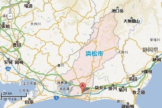 浜松市の 地図
