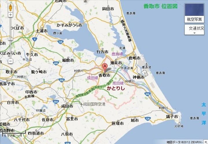 香取市 位置図