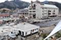 ひがしにほん地震の つなみで 破壊された 女川駅