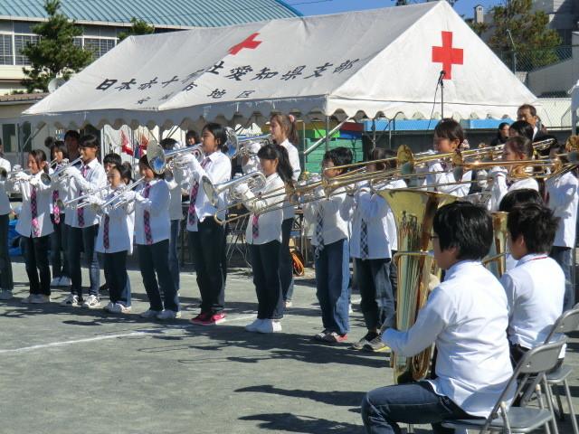 121110 古井町内運動会 (6) 11:45 南部小 金管 バンド