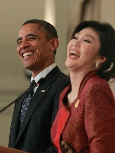 オバマ 大統領と インラック 総理の 写真 (世界タイムズ)