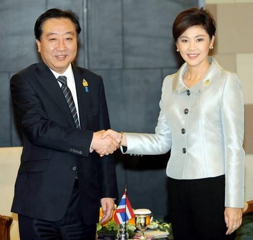 野田 総理と インラック 総理 (時事ドットコム)