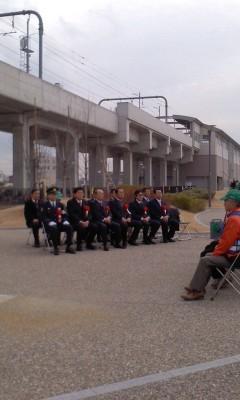 130121 14:04 桜井駅駐輪場防犯カメラ設置竣工式