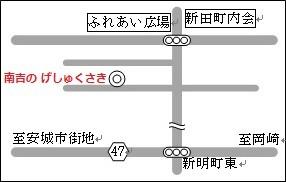 南吉の 下宿 さき 地図