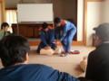 20130929 09:25 古井町内会 防災 訓練 心臓 マッサージ