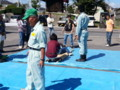 20130929 10:30 古井町内会 防災 訓練 けがにん 搬送 訓練