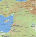シリアの 地図 (2013.12.17 作成)
