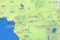 中央アフリカの 地図