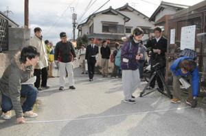 滋賀大学の 学生が 防災 地図 作成 (ちゅうにち 2013.11.29)