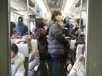 正月の 名古屋本線 特急 車内