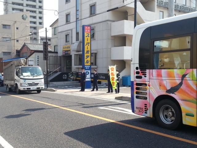 20140409 JR安城駅ふみきり事故防止キャンペーン 09:46