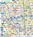 清洲と北名古屋の地図(あきひこ)