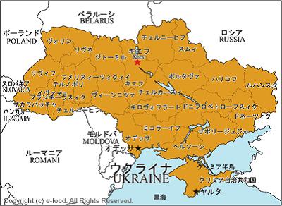 ウクライナの地図(世界料理マップ) 400-292