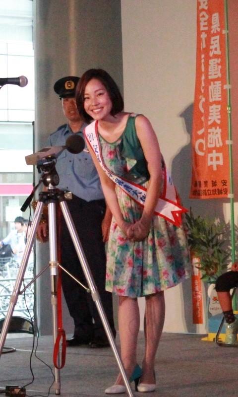 2014.8.2 たなばた防犯行事 (4) 林利紗さん
