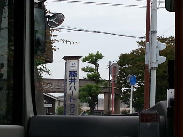 20140924 08.00.34 桜井線バス - モアイ交差点