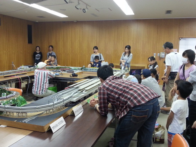 20141012 安城市中央図書館鉄道展 - 会場のようす