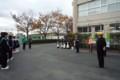 2014.11.28 東山中学校自転車安全利用キャンペーン (3) 安城警察署あいさ
