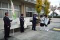 2014.11.28 東山中学校自転車安全利用キャンペーン (5)