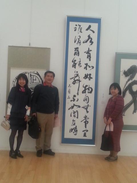 20141129 夕照会神谷光園さん (3) 白居易の詩「鶴」
