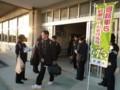 2014.12.10 安祥中学校自転車安全利用キャンペーン (5) シールくばり