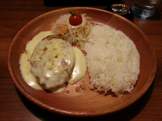 20141211 びっくりドンキー - チーズハンバーグセット
