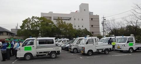 2015.2.23 町内会あおぱと出発式 (2) あおぱと集結