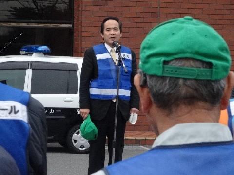 2015.2.23 町内会あおぱと出発式 (4) 市長あいさつ