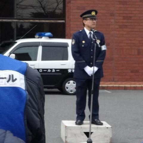 2015.2.23 町内会あおぱと出発式 (5) 署長あいさつ
