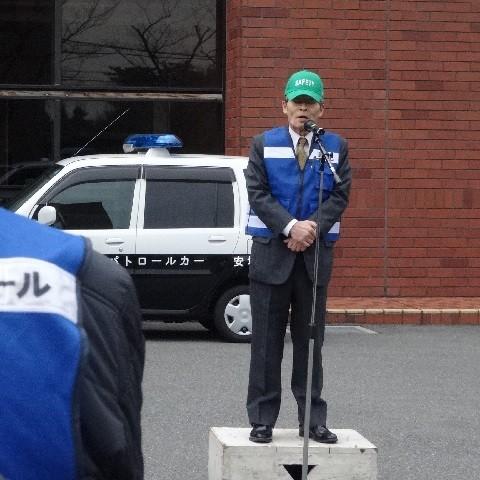 2015.2.23 町内会あおぱと出発式 (6) 議長あいさつ