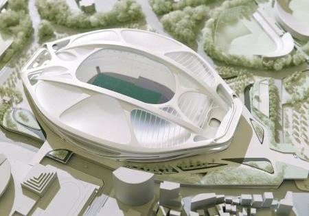 新国立競技場の模型(ちゅうにち)