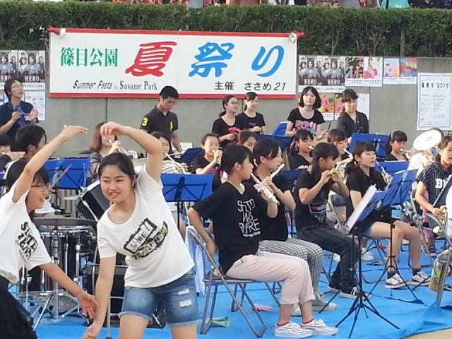 20150725_174520 ささめなつまつり - 篠目中学校吹奏楽部の演奏