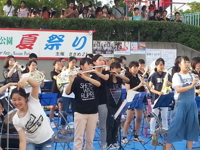 20150725_174601 ささめなつまつり - 篠目中学校吹奏楽部の演奏