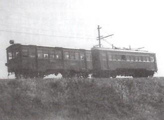 機銃掃射をうけた渥美線の電車