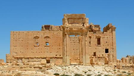 パルミラ遺跡のベル神殿内にある本殿=2014年7月(共同)