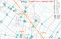 古井町の2014年の人身事故発生分布図