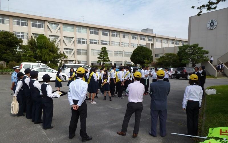ハイスクール自転車組~マナーアップ大作戦~2015.10.5 安城東高校 (1)