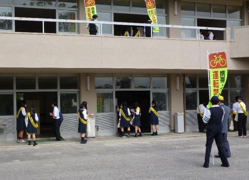 ハイスクール自転車組~マナーアップ大作戦~2015.10.5 安城東高校 (4)
