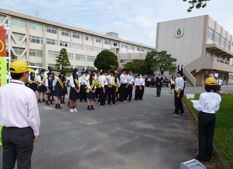 ハイスクール自転車組~マナーアップ大作戦~2015.10.5 安城東高校 (6)