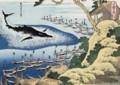 千絵の海五島鯨突 - 葛飾北斎