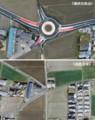 長野県安曇野市の環状交差点(ちゅうにち)