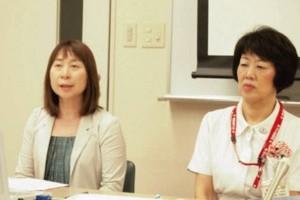 日本福祉大学教授の長江美代子さんと八事日赤副院長の片岡笑美子さん