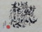 安祥公民館まつり (5) ひだり筆文字クラブ安藤純子さん