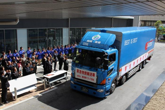 西三河から宇土市へ支援のトラック(まいにち)700-470