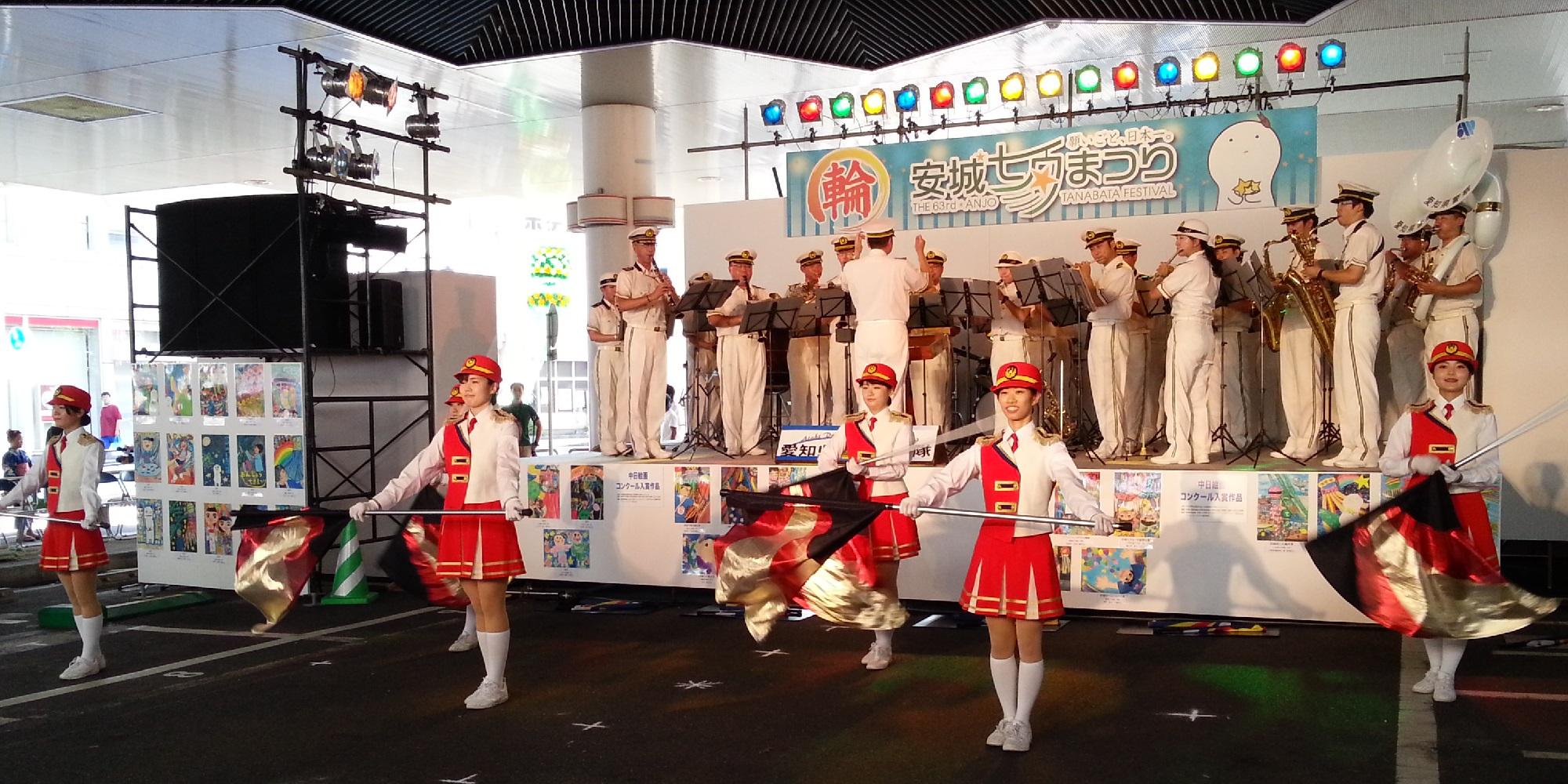20160807_151506  あんじょうたなばたまつり - 愛知県警察音楽隊 (15) スーサ 2000-1000