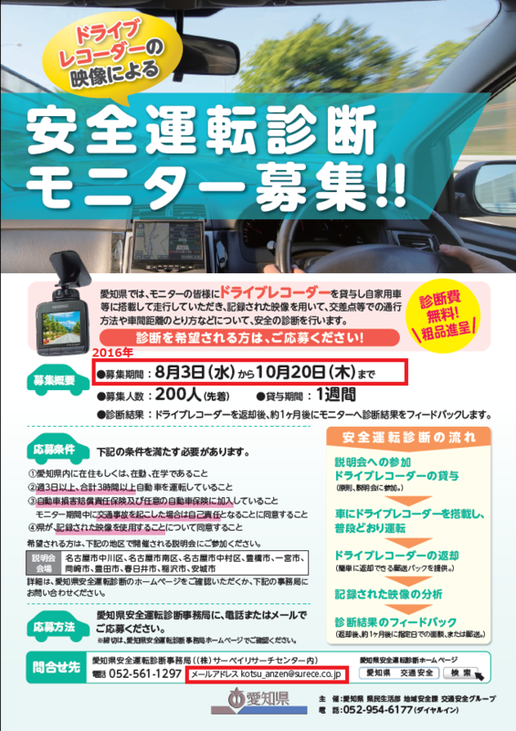 2016 安全運転診断モニター