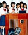 まちづくりの活動事例を発表する高校生(福井新聞)