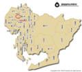 愛知県内の市町村の地図