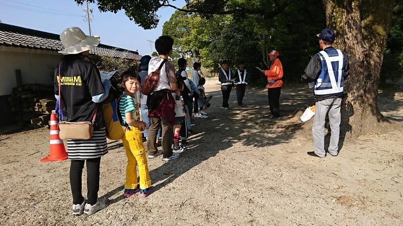 2016.11.5 おやこ防犯ヲーク (8) にげる